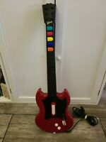 Playstation 2 PS2 Guitar Hero Red Octane PSLGH Red Wired Controller Works