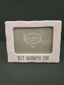 Rae Dunn Pink Best Grandma Ever Picture Frame Mothers Day 5x7 Photo