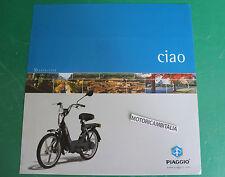 PIAGGIO CIAO 50 CICLOMOTORE MOPED MOFA PUBBLICITA DEPLIANT BROCHURE CATALOGUE