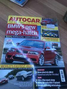 Autocar Car magazine JAN 2010 X6M INFINITI RANGE SPORT RX7 GOLF R 635D FIESTA