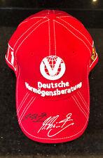 Michael Schumacher Personally Signed World Champ Special Rare Ferrari Cap NEW