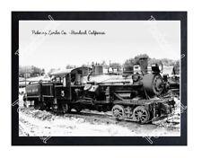 Historic Pickering Lumber Co. - Standard, California Train Postcard 1