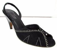 Donald J. Pliner shoes size 8 N Narrow black Sandals Leather slides open toe