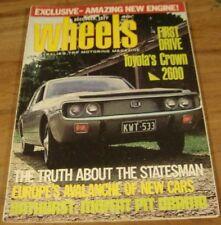 1971.WHEELS.'71 Bathurst Moffat Hardie.DeVille.350 SLC.240C.GTR XU-1 Charger Ad