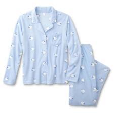 1x Pink K Summer 2 Pc. Notch Collar Lightweight Pajama PJ Sleepwear Set aec2eedd2
