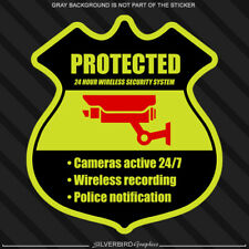Home Cctv Security Sticker Video Camera Warning Surveillance Caution Protection