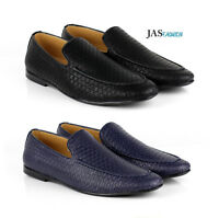 Mens Slip On Fashion Pattern Loafers Driving Shoes Casual Smart Moccasin Size UK