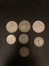 Lot: $5 Face Value Us Silver Coins - Halves, Quarters And Dimes.