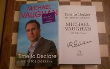 Michael Vaughan Time to Declare Autobiography SIGNED 1st edition 1st impression