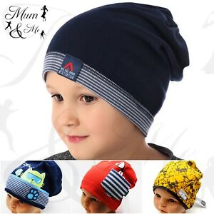 Kids Boys Hat Toddler Cap Spring Beanie Cotton Pull On Hat