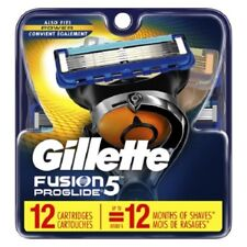 Gillette Fusion Proglide Men Razor Blade Refills 12 Count Factory Sealed
