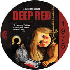 """Deep Red (1975) Thriller and Mystery NR CULT """"B"""" Movie DVD"""