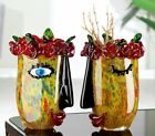 GIANT Luxurious Celebration to Picasso Art Glass Face Abstract Vase 31.5cm