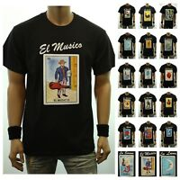 Men Graphic T-Shirt LOTERIA Borracho  Mexico Funny Spanish Card Fashion Hipster