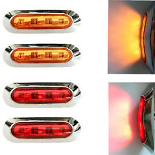 2x Amber 2X Red Led Side Marker Tail Light Lamp Clearance Trailer Truck 12-24v