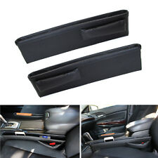 Black Leather Car Side Pocket Organizers, Seat Catchers For Key Wallet Phone etc