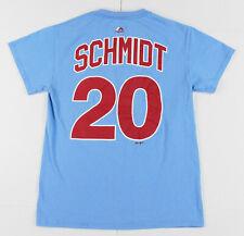 Mike Schmidt Philadelphia Phillies Shirt Mens S Small Blue MLB Majestic Apparel