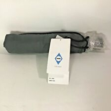 New Unisex Totes Gray Travel Aoc Signature Open/Close Compact Umbrella with tags