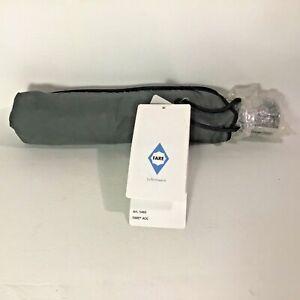 Umbrella Compact Easy for Travel Fare AOC Push Button Gray