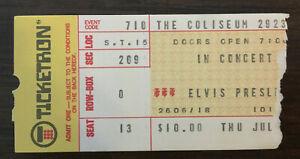 Authentic Original 1975 Elvis Presley concert ticket stub w/ Certificate OA