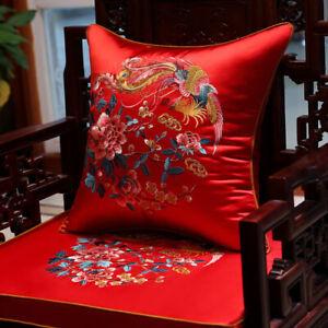Chinese Style Sofa Cushion Qual Silk Cushion Lohan Thick Cushion Non-slip Cover