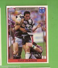 1993 RUGBY LEAGUE CARD #139  TONY DURHEIM, GOLD COAST SEAGULLS