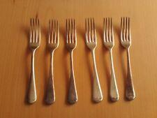 Vintage set 6 WP Trevor Plate EPNS Forks.