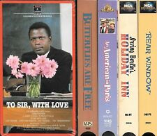 Lot of 5 Classic MOVIES on VHS - Rear Window, Holiday Inn, To Sir With Love +