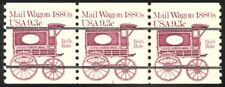 1903a -9.3c Mail Wagon Prec. Plate #8 VF/NH Strip of 3