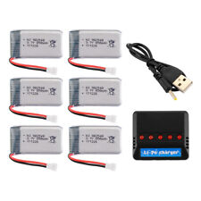 5pcs 3.7V 850mAh Lipo Battery+USB Charger for Syma X5C X5C X5SC X5SW Drone BC713