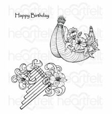 Heartfelt Creations Cling Stamp Set  ~  SUNRISE LILY FLUTE Springtime ~HCPC-3724