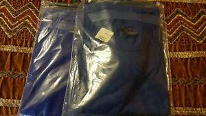 2 Duofold Men's Short Sleeve Tee Crew Neck Purple/Blue Size Lg.NWT