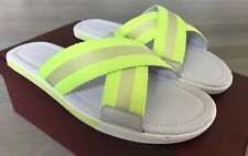 2f6af852b2fc 500  Bally Bonks White and Yellow Leather Sandals size US 11 Made in Italy