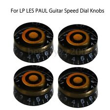 4x Black&Gold Custom Electric Guitar Speed Control Knobs Set For LP LES PAUL