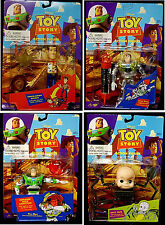 Toy Story Thinkway 4 Action Figure Set New 1995 First Movie Woody Buzz