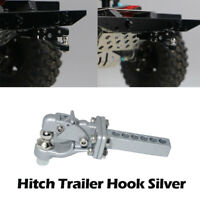 Metal Hitch Trailer Hook for SCX10 90046 Traxxas TRX4 1/10 RC Crawler Car Silver