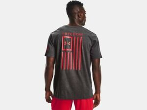Under Armour Mens UA New Freedom Flag Short Sleeve Graphic T-Shirt SS Tee USA