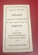 1936 Texaco Belland  Havre Montana Traffic Laws Pocket Guide