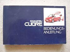 Daihatsu Cuore L201 (93-94) : Facelift Bedienungsanleitung Betriebsanleitung
