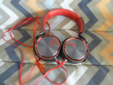 SONY MDR-X05 STEREO HEADPHONES OVER THE EAR RED & GRAY