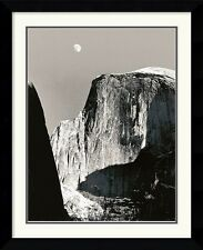 "Ansel Adams, ""Moon and Half Dome"" Framed art, Double matting Approx. 29x33"