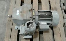 Hew Rf132S/4 Motor w Gearbox and Brake 7.5 Hp 1725Rpm 480V 1 1/4 Shaft #1039Kw