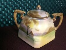 Vintage Hand Painted Nippon Sugar Bowl