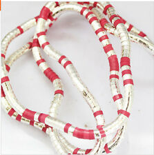 5mm 90cm red Iron Flexible Bendy Snake Bendable Necklace,6pcs/pack
