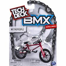 New 2017 Tech Deck BMX FINGER BIKES Series 3 WETHEPEOPLE Flick Tricks Red Black