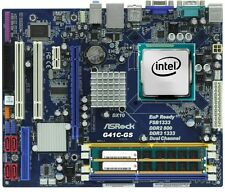 CPU PROCESSORE INTEL CORE DUO 2 E6550 + SCHEDA MADRE G41C-GS 775 + 8GB RAM DDR3