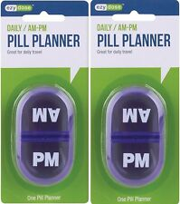 Pocket Pill Holder ( AM/PM compartments ) Snap Close EZY DOSE ( 2 pack )