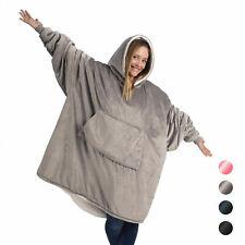 OverSize Ultra Plush Blanket Sweatshirt Fleece Huggle Hooded Blanket Soft Warm J