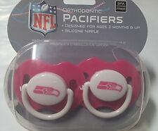 Seattle Seahawks PINK Baby Infant Pacifiers NEW - 2 Pack SHOWER GIFT! girls