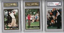 LOT (3) GRADED CARDS  TIGER WOODS 1997 2001 GOLF